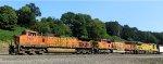 BNSF 5121 - BNSF 9984 - UP 9102