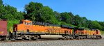 BNSF 7146 and BNSF 4135 pusher pair for northbound oil can