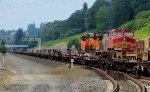 BNSF 8266 with BNSF 754