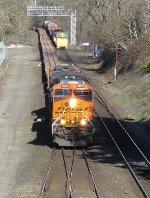 BNSF 8266 with BNSF 6848
