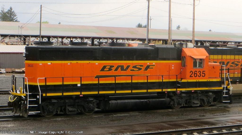 BNSF 2635 GP39-3