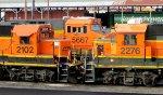 BNSF 2102 - BNSF 2276 - BNSF 5667