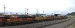 BNSF 2707, BNSF 7958 - BNSF 7255 (both behind 2707) - UP 8912 - BNSF 7218, BNSF 7522 - BNSF 6634 - BNSF 5047 - BNSF 2674 - BNSF 2591, BNSF 1406
