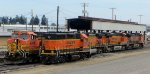 BNSF 4904 and BNSF 2674, along with BNSF 4066, BNSF 7422, and BNSF 969