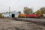3885 & 2019 sit outside the North Yard shop