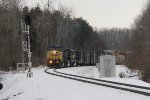 Traversing the GR Sub in the daylight, Q327 heads west through the curves north of Fennville