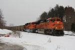 BNSF 9150 & 9000 come to a stop at the east end of Grand Junction where they will be tied down with N792