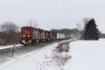 M332 roll east at milepost 260 on the Flint Sub led by a fairly good power consist