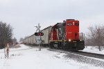 GTW 4626 throttles up as it heads back to Flint from Durand with L500