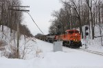Clear of the siding at Clyde and picking up speed, N849 splits the Munger Rd signals at mile 56.6