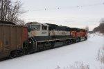 N849 heads away rolling north on the Saginaw Sub