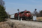 CP 5936 splits the South Holly signals as it leads Q321 south on the Saginaw Sub
