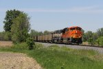 Bound for the BNSF at Chicago, BNSF 9055 leads E949 away from the Holland area