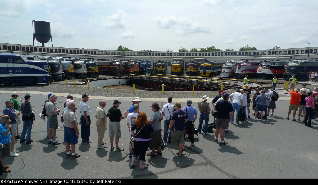 Streamliners at Spencer roundhouse