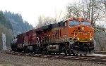 BNSF 7018 leading 8763