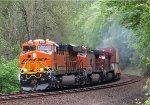 BNSF8205-BNSF4160-CP9768 triple head a stack train southbound