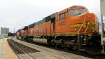 BNSF 9400 - Last of the trio hauling through the Amatrak station south