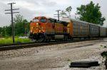 BNSF 5346 Pulls Autoracks