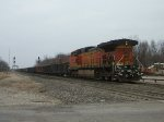 BNSF 4336 DPU on westbound BNSF unit train