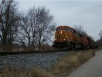 BNSF 8877 eastbound BNSF loaded coal train