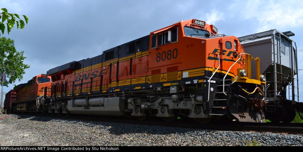 BNSF-powered freight on CSX at Columbus, Ohio