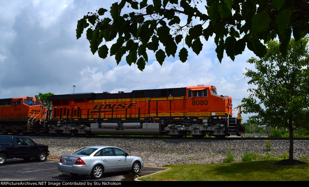 BNSF-powered freight on CSX at Columbus, Ohio