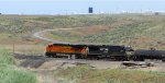 BNSF 7406 leading visiting power NS 7511