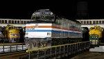 Vintage Amtrak on the turntable