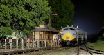 Classic depot night scene