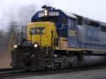 Eastbound CSX 8337 panned action shot near CP380