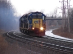 CSX 2558 leads an eastbound string of 5 light engines near King Rd
