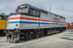AMTK 406, EMD F40PHR, from Amtrak, on display at Streamliners
