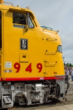 UP 949, EMD E9A, from the Union Pacific railroad at Cheyenne Wyoming, at Streamliners