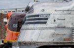 CBQ 9911A EMD E5A, and Iowa Pacific 515 EMD E8A nose profiles at Streamliners