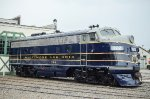 B&O 722, EMD F7A, from Potomac Eagle Scenic Railroad in West Virginia