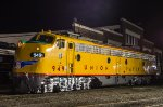 UP 949, EMD E9A, posed at the NCTM's Bob Julian Roundhouse for one of Thursday night's photo ops