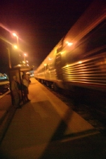 Amtrak Arriving at night