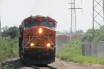 BNSF 6595 Hauls a Mixed Freight Train Through Affton