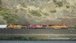 BNSF 7384 - CP 9581 - BNSF 5499