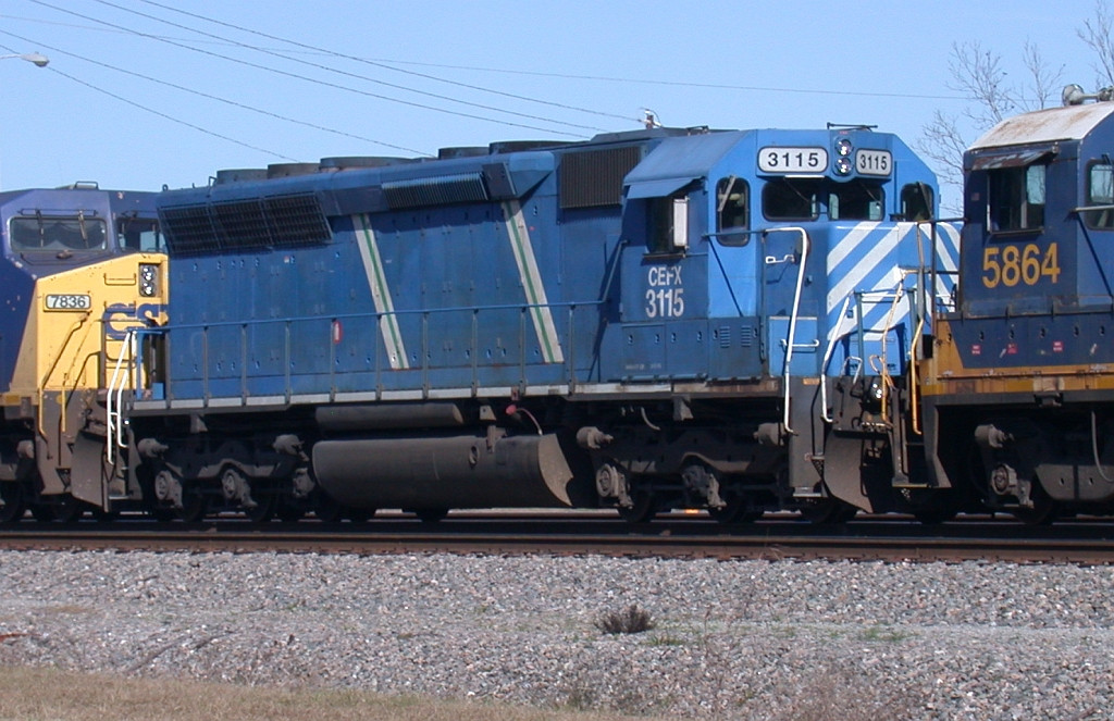 CEFX 3115 on NB freight