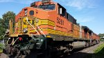 BNSF 5261 showing her fire scar