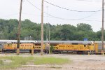 UP 9169 ole school power sitting in the yard today.