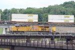 UP 7945 Dpu on a EB coal train..