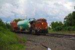 BNSF 6849 Leads the Boeing train Eastbound..