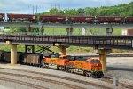 Coal loads roll down the Fort Scott Sub...
