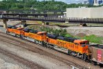 3 BNSF Ace's work Dpu's on a coal train..