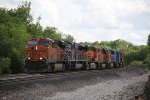 BNSF 7380 Rolls a cool set of power east down the Emporia Sub.