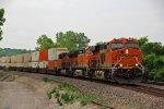 BNSF 6589 leads a EB stack train toward Kc Mo.