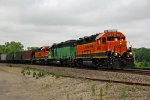 BNSF 2662 Leads a trio of Old School power..