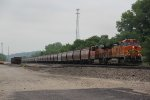 BNSF 5419 Heads up a grain train down the Emporia Sub.